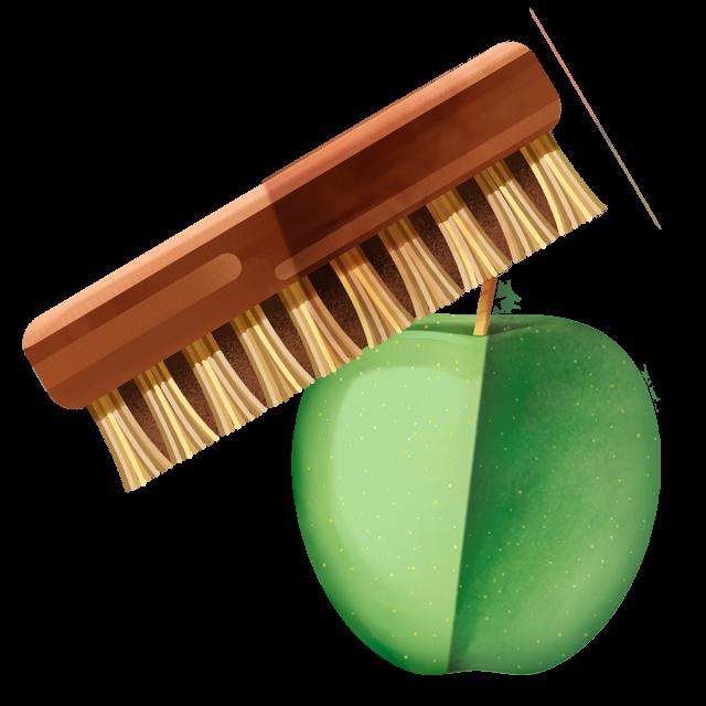 Waschbürste Apfel