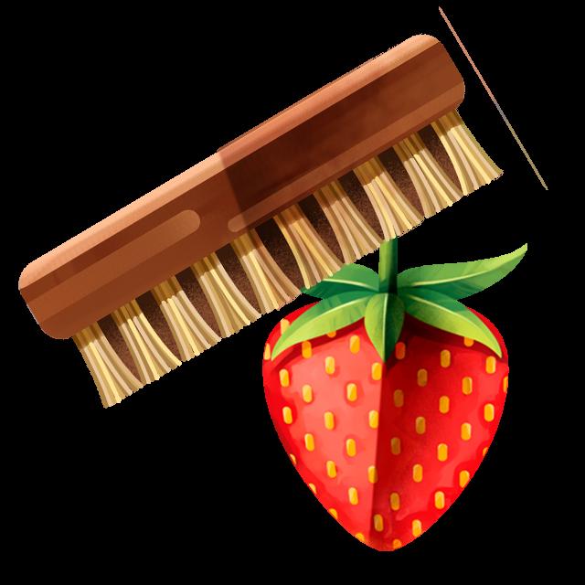 Waschbürste Erdbeere